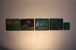 (From Left to Right) Utopia, The Bird, Landscape With Trees (Diptych), Head Of Dragon,Ben Westley Clarke