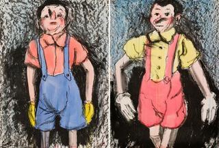 Watercolor Boys, Jim Dine