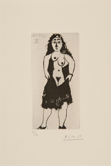 MAJA À LA ROBE COURTE , Pablo Picasso