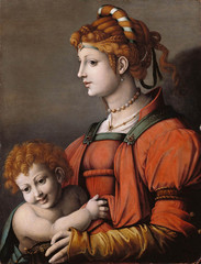 Portrait of a Woman and Child, Bacchiacca