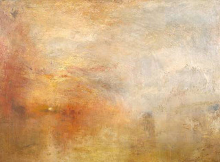 Sun Setting over a Lake  ,Joseph Mallord William Turner