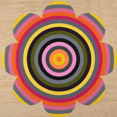 Yellow/Orange/Magenta/Black Flower Target, Laura Sue Phillips