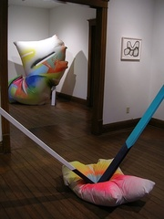 """Installation view of """"AIR"""" at SideCar.,"""