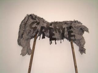 Piquet de greve (Picket sign), Annette Messager