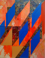 Untitled (bl.dmnds.ppr.trngls.crdbrd.cnvs.) , Lecia Dole-Recio