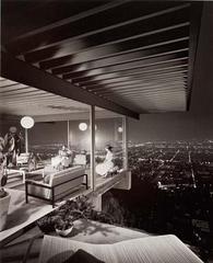Pierre Koenig, architect, Stahl House (Case Study House #22), Los Angeles, Julius Shulman