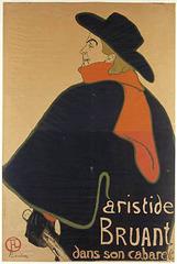 Aristide Bruant in his Cabaret, Henri de Toulouse-Lautrec