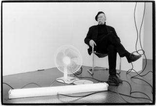 "Anselm Dreher in Installation ""Roadrunner"", Matthew McCaslin"