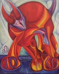 Toro con Sombra de pajaro, Arturo Diaz Sandoval