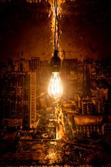 CHCC01 (detail) with original Edison lightbulb circa late 1800s, Matthew Brandt