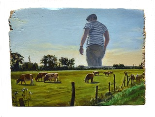 Self Portrait As Giant In Northern France,JEAN PIERRE ROY