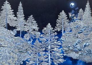 The Blue Moon Beam Gatherer, Raqib Shaw