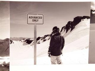 Intimidated Skier,