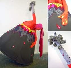 Volcano Costume (for Gushing performance), eliza fernand