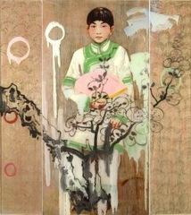 Pink Fan , Hung Liu
