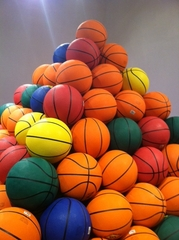 Basketball Pyramid & Pulse (detail),David Huffman