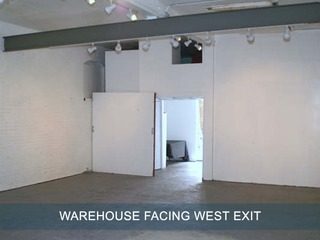 Warehouse facing west exit,