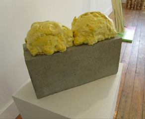 Still Life Cinderblock with Great Stuff Expansion Foam, Randy Colosky