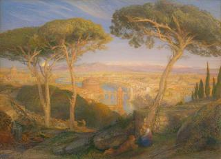 The Golden City: Rome from the Janiculum , Samuel Palmer