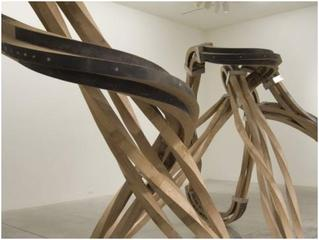 Matthew Perry, Dead Leg, 2007, Oak and stainless steel, ,Richard Deacon