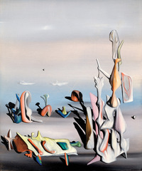 detail from A Little Later (Un peu après),Yves Tanguy
