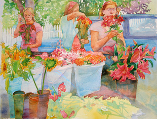 Vineyard Flower Girls, Wendy Shalen