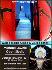 Open Studio invitation,Michael Lownie
