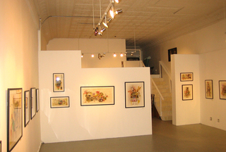New gallery space (front room),