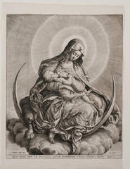 Madonna and Child on a Crescent Moon, Hieronymus Wierix