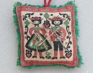 Needlepoint pillow , Miklos Onucsan