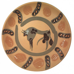 Taureau Ceramic Plate, Pablo Picasso