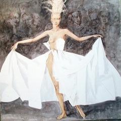 Dans sa robe Blanche, Roman Zaslonov