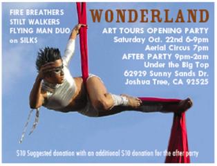 Wonder Land Art Tours Opening Party Oct 22, 6pm 2011,