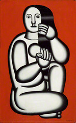Nude on Red Background, Fernand Léger