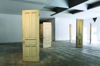 "THE DOORS, Installation view: Hiroshima City Museum of Contemporary Art exhibition ""THE ROAD OF HOPE,"" 2011, Yoko Ono"