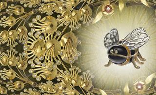 Beautiful Bee II (Detail), JT Burke