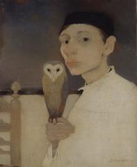 Zelfportret met uil, Jan Mankes