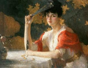Red and Gold, Frank Weston Benson