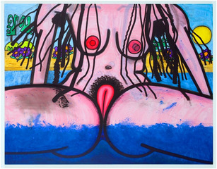 Bathers Thirteen (Spectrum B), Carroll Dunham