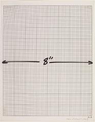 """8"""" Measurement, Mel Bochner"""