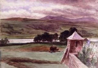Esthwaite Water seen from Lakefield ,Beatrix Potter
