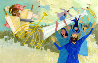 Detail from The Story of Hanukkah, Jill Weber