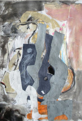 Figure with Guitar and Case, Gigi Mills