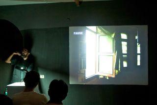 Amar Kanwar presenting abstracts of his film work, Amar Kanwar