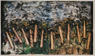 Running Hammers in a Landscape,Jim Dine