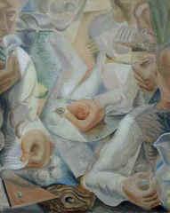 """L\'homme Autour D\'une Table"""", Andre\' Masson"""