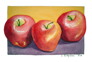 Three Apples,Kathleen Swaydan