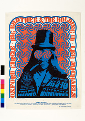 "Konzertposter ""Top Hat"" für Big Brother & Holding Co., Oxford Circle, Lee Michaels, 09.- 10.12.1966, , Victor Moscoso"