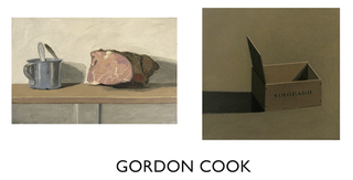 "left: ""Pastrami"", n.d., oil on canvas, 15"" x 24"", Gordon Cook"