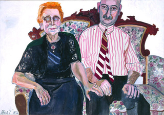Anne-Marie and Georgie, Alice Neel